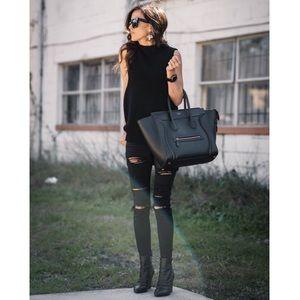 Denim - ARRIA🖤 black distressed skinny jeans slit ripped